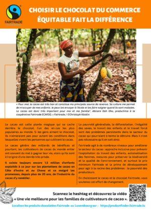 Fairtrade - Choisir le chocolat du commerce équitable fait la différence