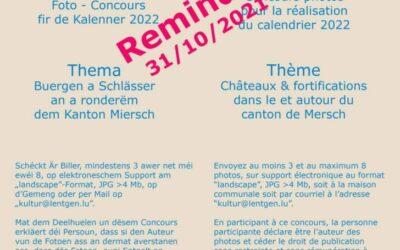Commission des affaires culturelles – Participez au concours photos pour le calendrier 2022